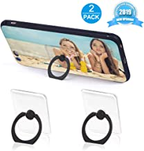 Phone Ring Holder Phone Ring Transparent Ring Holder for Cell Phone 360 Degree Rotation and 180 °Flip Phone Ring Grip Finger Ring Stand Kickstand Compatible Various Mobile Phones (Black)
