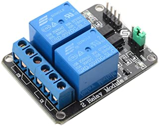 SunFounder 2 Channel DC 5V Relay Module with Optocoupler Low Level Trigger Expansion Board for Arduino UNO R3 MEGA 2560 1280 DSP ARM PIC AVR STM32 Raspberry Pi