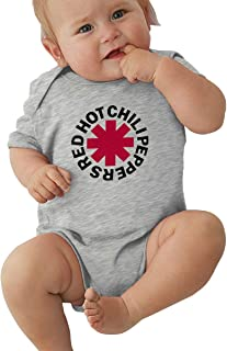 Nyanhif Unisex Baby O-Neck Short-Sleeve Jersey Bodysuit Red Hot Chili Peppers Art Funny Jumpsuit Black