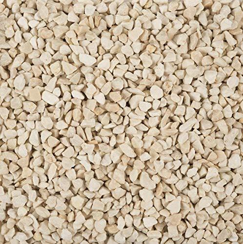 Edzard Gránulos Decorativos/Piedras Decorativas (2-3 mm), 1 kg, Color Crema, Impermeable, Libre de Polvo, en una Bolsa sellable, Vidrio de candelita Duco Gratis
