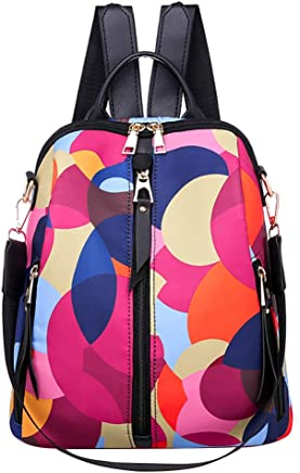Farmerl Bags For Women Color Matching Wild Leisure Travel Bag Student Backpack