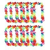 Hosaire 10pcs coronas de flores unisex guirnalda hawaiana collar de guirnaldas Ferroviario Belle Decor perfecto para secretos Photo vacaciones
