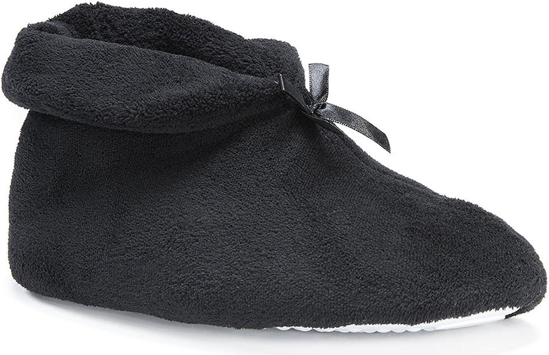 Muk Luks Slippers Womens SoftOnes Bootie M 6.5-7 Black 0015845