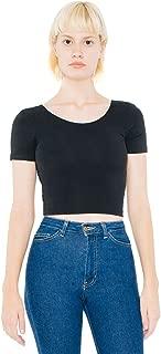 Women Cotton Spandex Jersey Crop Tee