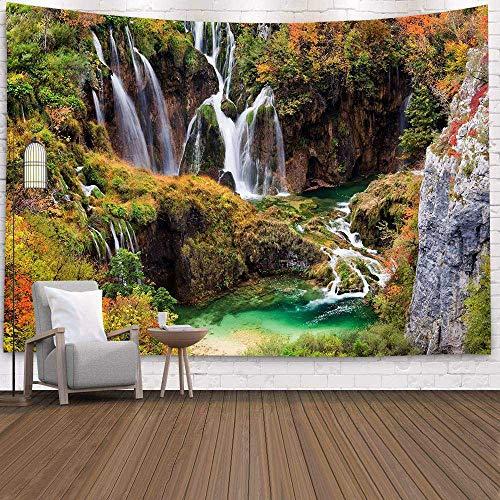 WERT Tapiz de Ventana de decoración de Granja Tapiz de Bosque psicodélico, mantón de Yoga para cabecera, Tapiz de Pared A8 200x180cm