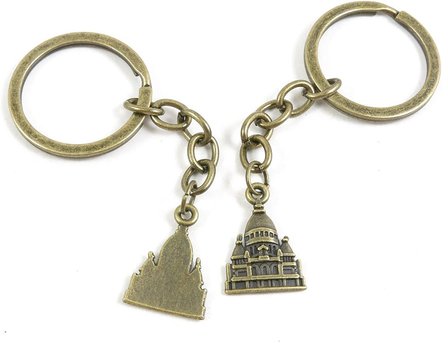 230 Pieces Fashion Jewelry Keyring Keychain Door Car Key Tag Ring Chain Supplier Supply Wholesale Bulk Lots V1ET4 Castle Imperial Palace