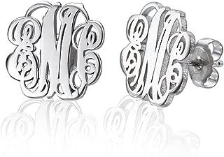 Best monogram stud earrings Reviews