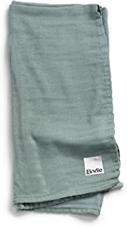 Elodie Details Bambu muslin babyfilt swaddle filt i Oeko-Tex material 80 x 80 cm – mineralgrön