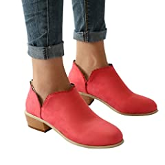 0f33d348c0acc vermers Women Fashion Round Toe Boots - Women Classic Ankle B ..