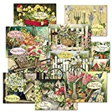 Susan Winget Birthday Greeting Cards Value Pack - Set of 20 (10 designs), Large 5' x 7', Happy Birthday Cards with Sentiments Inside, Envelopes Included