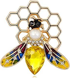 Kofun Broche Broche De No/ël Broches Double Bell Strass Bijoux Femmes Cadeaux Charms Broche De No/ël