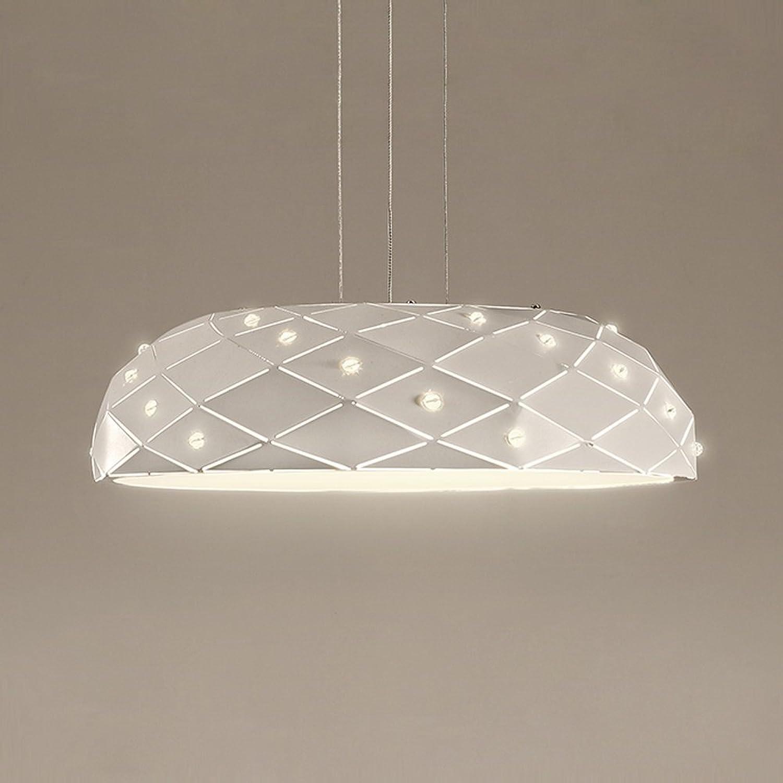 DIAODTIA 24W LED Warmes Licht 3000K Pendelleuchte, Modern Kreativ Hngelampe, 45  H12 cm, Metall Kristall Acryl Pendellampe, für Schlafzimmer Esszimmer