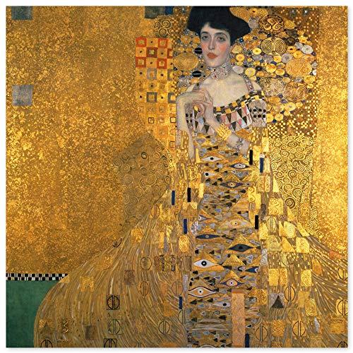 JUNIWORDS Poster, Gustav Klimt, Bildnis der Adele Bloch-Bauer I, 60 x 60 cm