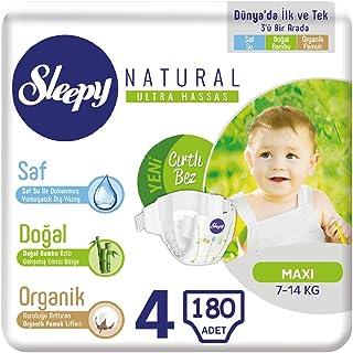 Sleepy Natural Bebek Bezi 4 Numara 7-14 Kg (6 * 30) 180 Adet