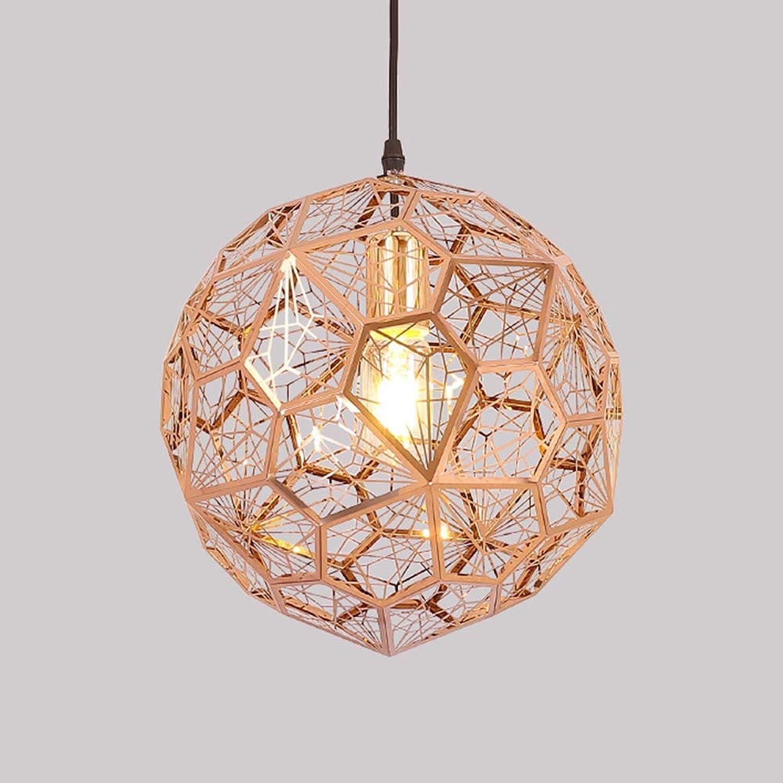 M-TK Lustre Post Moderne Minimaliste en Acier Inoxydable Diahommet Lustre Creative géométrique sphérique Lampe personnalité café-Restaurant Lampe de Table,Roseor