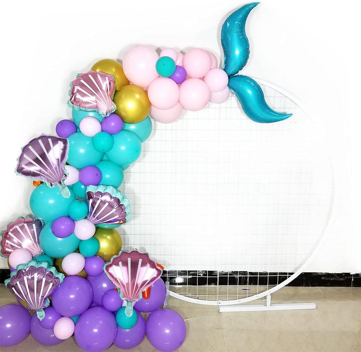 Mermaid Tail Balloons Garland for Baby Shower Girl Birthday Part
