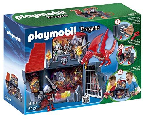 Playmobil Dragons 5420 Coffret - Chevaliers et dragon transportable