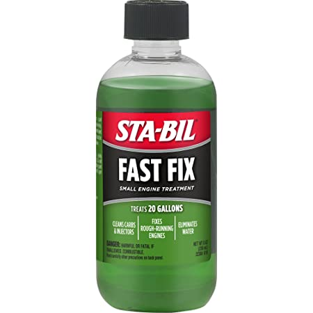 STA-BIL Fast Fix Small Engine Treatment - Cleans Carbs and Injectors - Fixes Rough Running Engines - Eliminates Water - Treats 20 Gallons, 8 fl. oz. (22304)