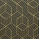 """17.7""""×118""""Gold and Black Wallpaper Peel and Stick Wallpaper Geometric Hexagon Stripe Contact Paper Removable for Wall Covering Decorative Wall Cabinet Closet Self-Adhesive Vinyl Film Roll"""