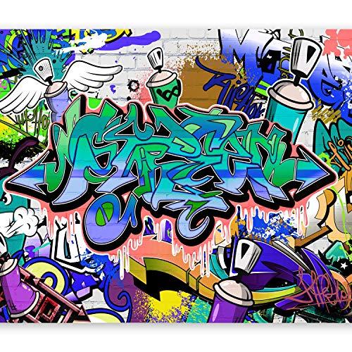 murando Fototapete 250x175 cm Vlies Tapeten Wandtapete XXL Moderne Wanddeko Design Wand Dekoration Wohnzimmer Schlafzimmer Büro Flur Graffiti f-A-0018-a-c