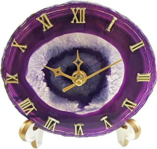 purple table clock