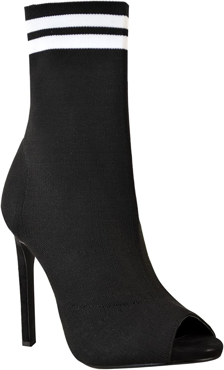 Fashion Thirsty Womens Stiletto High Heel Sock Boots Knit Stretch Sports Luxe Size