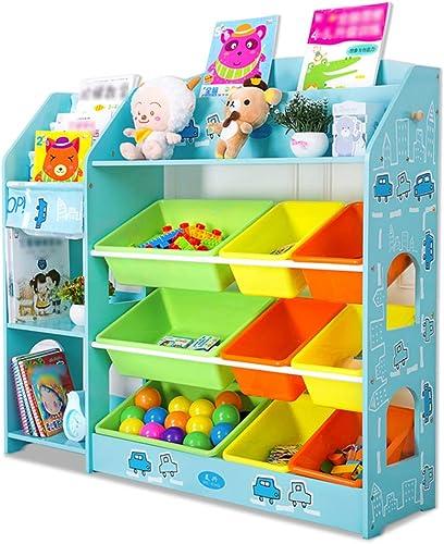 Precio al por mayor y calidad confiable. Muebles Estante de almacenamiento de juguetes juguetes juguetes para Niños Estantería para bebés Armario de almacenamiento de juguetes para habitación de Niños Organizador de juguetes Estante para bebés de múltiples ca  marcas de diseñadores baratos