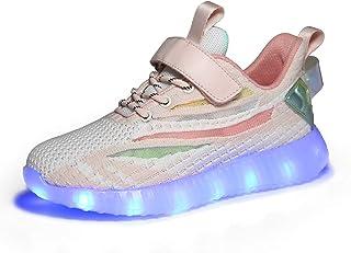 Voovix Baskets Montants Enfant Clignotant Chaussures de lumière LED pour Garçons et Filles Multicolores Chaussures de Sport