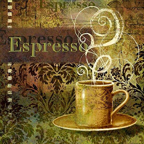 ROLOWANYCH PŁÓTNIE Eisner Ekspres do kawy 3 Wydruki na płótnie na 100% bawełnie 380gr jedzenie cm_61_X_61