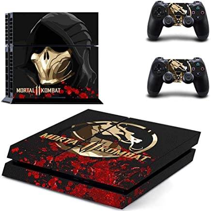 Playstation 4 Skin Set - Mortal Kombat 11 HD Printing Vinyl Skin Cover Protective for PS4 Console and 2 PS4 Controller by Mr Wonderful Skin