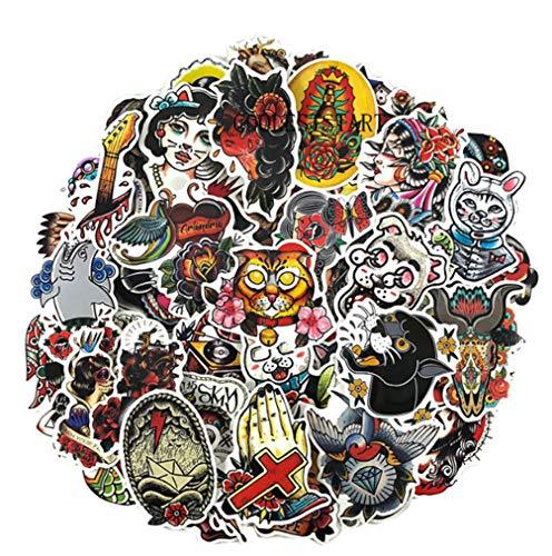 50 Stuks Herstel Stijl Graffiti Sticker Schoonheid Bagage Laptop Auto Skateboard Gitaar Koelkast Sticker Speelgoed Pvc Waterdicht
