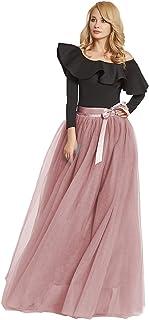 comprar comparacion FOLOBE 1950 Vintage Puffy Tutu Skirts Dama de Honor 6 Capas de Enagua Enagua