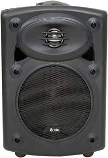 QTX | Amplified Stereo Speakers with Deep Bass Response | Black | 80W Max