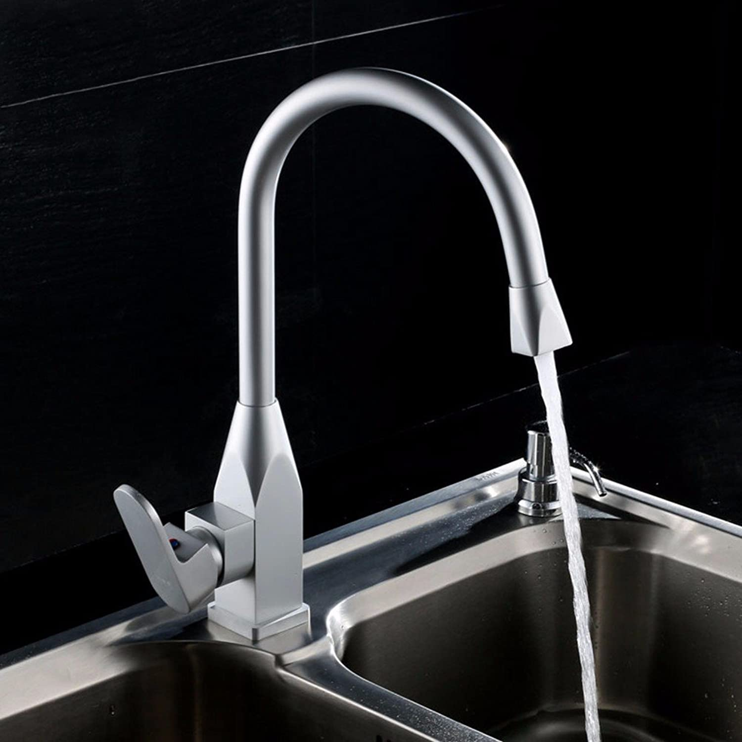 Hlluya Professional Sink Mixer Tap Kitchen Faucet Aluminum, hot and cold bath, basin, Single Hole Sink mixer 6