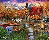 ジグソーパズル500ピースおとぎ話油絵風景ジグソーパズル木製フェリー 子供の誕生日プレゼント女の子へのサプライズギフト大人のジグソーパズル芸術パズル家の装飾
