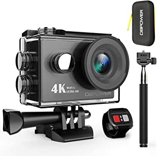 DBPOWER 4Kカメラアクションカメラ、WiFiスポーツアクションビデオカメラ170度ワイド角度防水水中カムwithリモート制御と充電式バッテリーアクセサリーキット(b-sportカメラ)