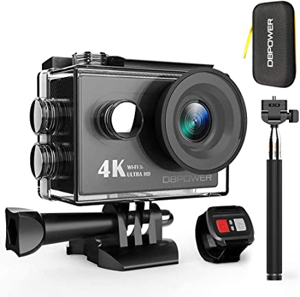 DBPOWER 4K Action Camera 12MP Ultra HD Waterproof Sports...