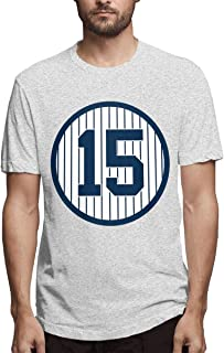 Men's Classic Solid Ultra Soft Cotton Crew Neck Thurman-Munson-Retired-Number #15 T-Shirt Multipack