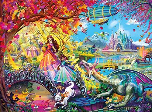 Buffalo Games - Flights of Fantasy - Autumn Castle Festival (Glitter Edition) - 1000 Piece Jigsaw Puzzle
