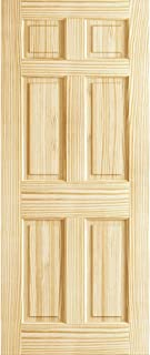 6-Panel Door Interior Slab, Solid Pine (80x30)