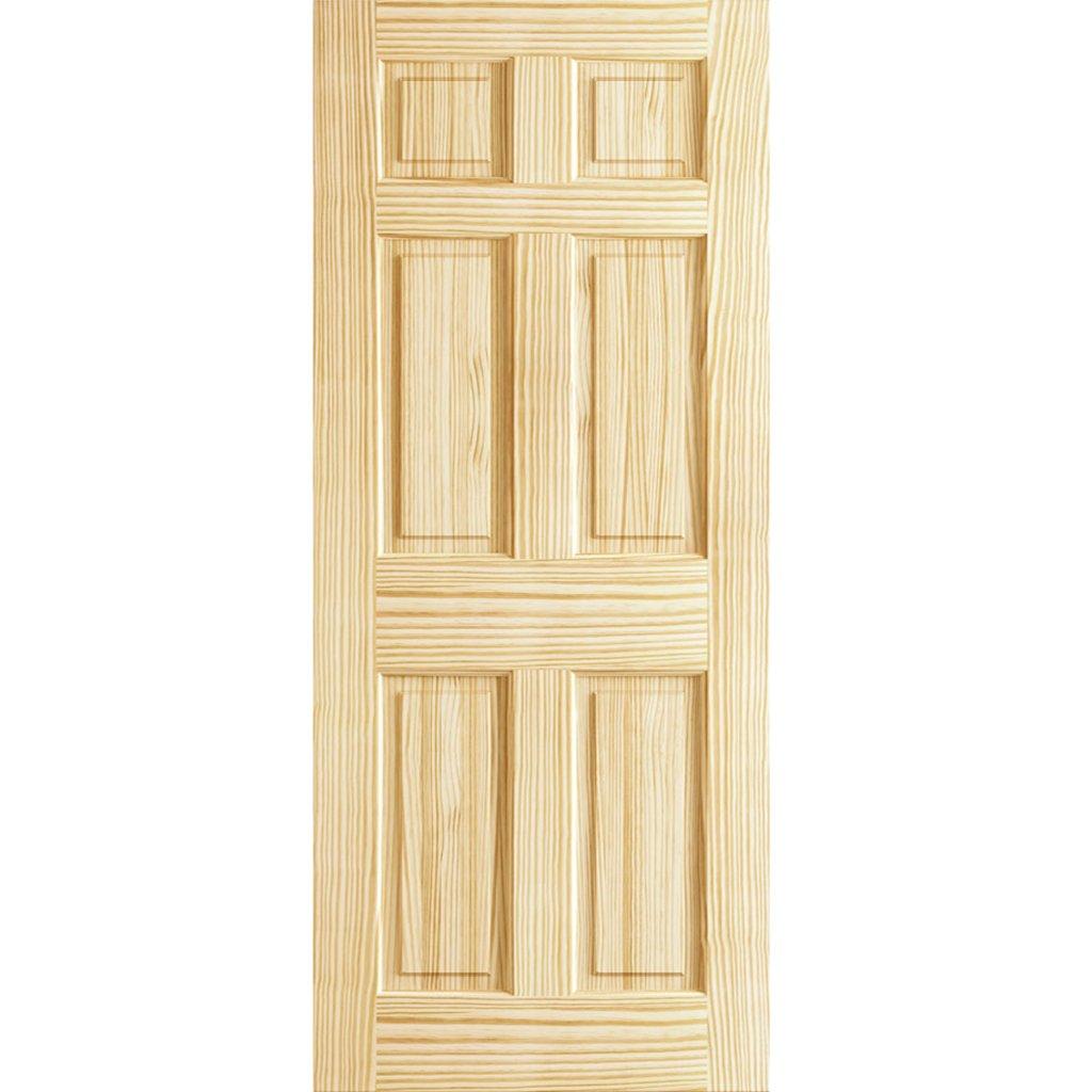 6-Panel Door Interior Slab Solid Pine (80x30)  sc 1 st  Amazon.com & Solid Wood Interior Doors: Amazon.com