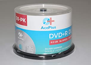 AcePlus DVD+R 8X Dual Layer Silver Shiny with Logo 50 Cake Box