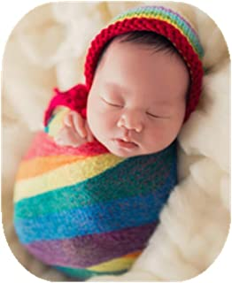 Newborn Baby Photography Shoot Props Outfits Baby Scarf Luxury Stretch Wrap Yarn Cloth Blanket Photo Props