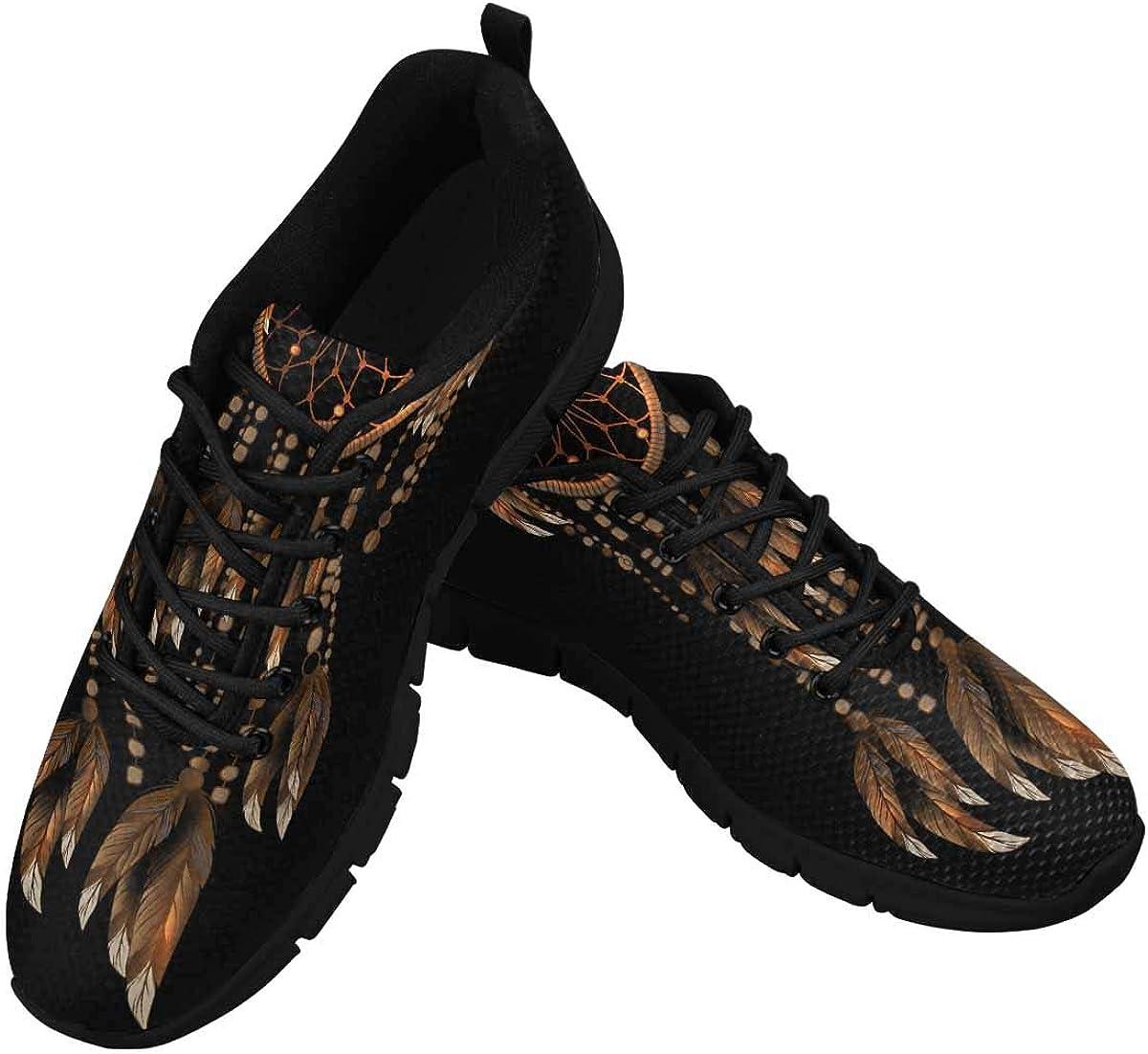 InterestPrint Dreamcatcher Pattern Women's Lace Up Running Comfort Sports Sneakers