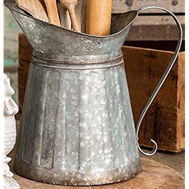 Metal Pitcher Kitchen Serving Utensil Holder Country Decor