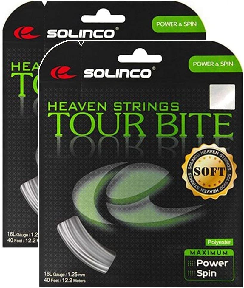Solinco Tour Bite SEAL limited product Soft 16 g 1.30 String Tennis 2 mm Inventory cleanup selling sale - Packs