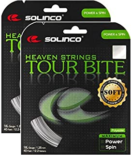 Solinco Tour Bite Soft 16 g 1.30 mm Tennis String - 2 Packs