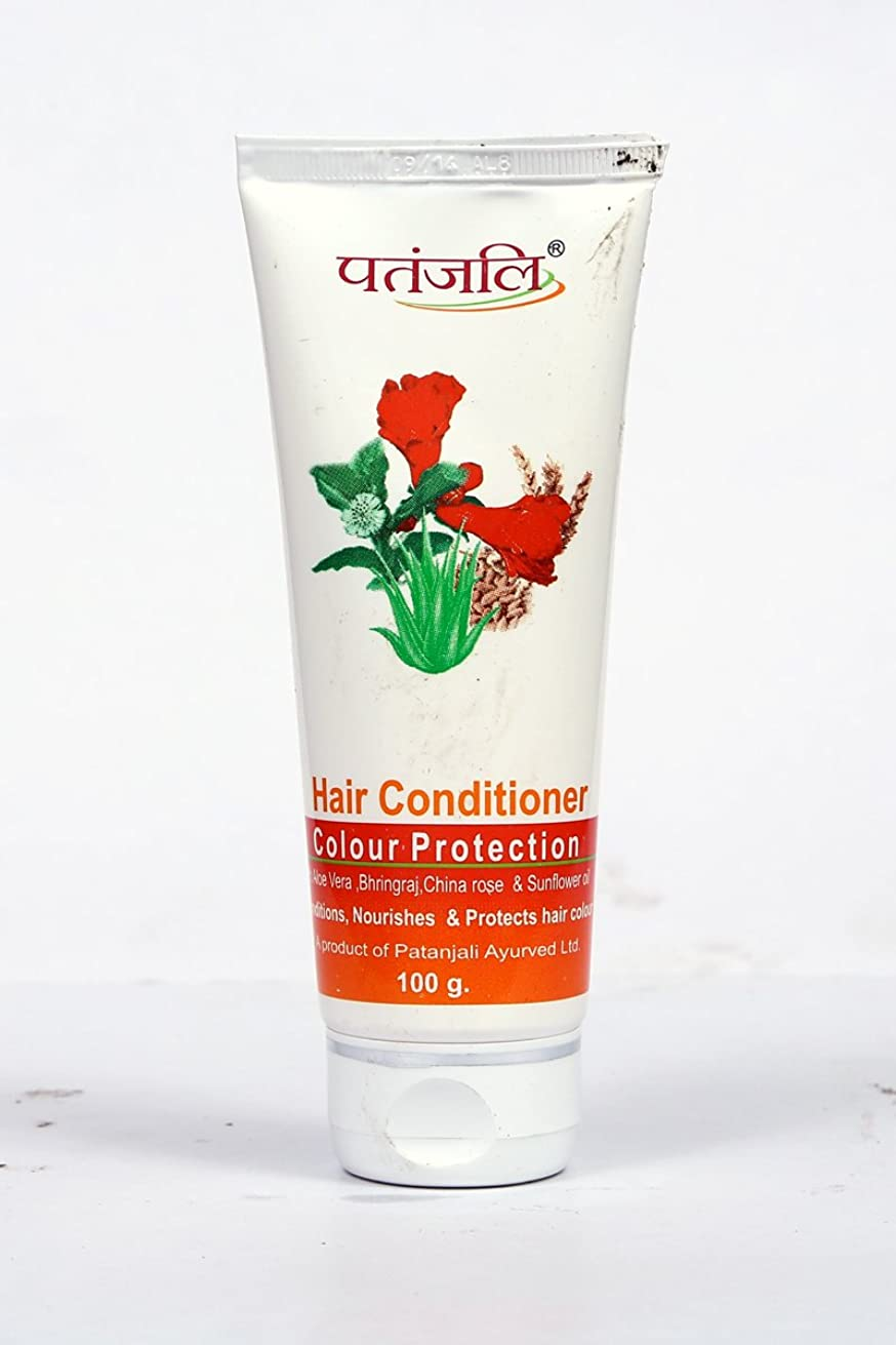 回転するアノイ乞食Patanjali Hair Conditioner Colour Protection, 100g