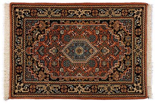 Lifetex.eu Teppich Bidjar ca. 60 x 90 cm Rot handgeknüpft Schurwolle Klassisch hochwertiger Teppich