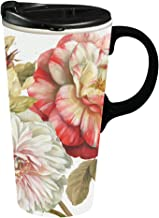 Romantic Afternoon 17 OZ Ceramic Travel Cup - 4 x 5 x 7 Inches